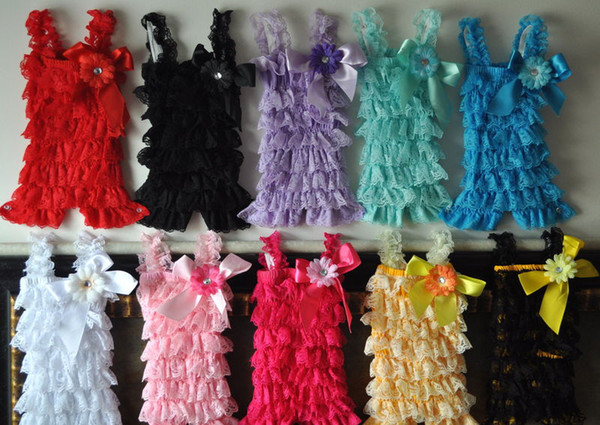 Free shipping christmas petti ruffle lace rompers ,romper fit for 0-3T baby 10pcs/lot