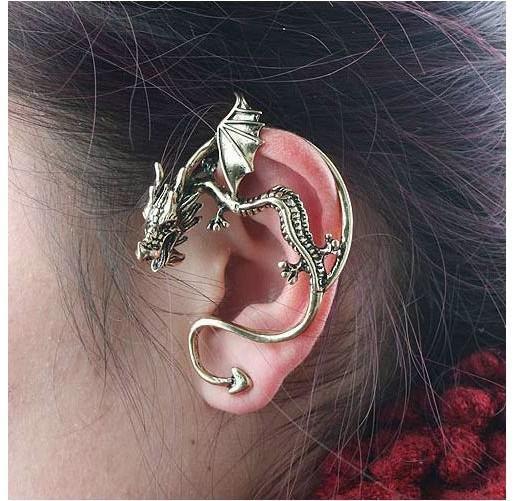 Populaire oorbellen gotische punk wind herstellen oude persoonlijkheid draak attitude oorbel oorbellen
