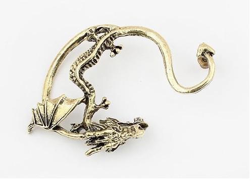 人気のイヤリングゴシックパンク風の古代の人格のドラゴンの態度イヤリングのイヤリング