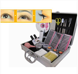 Wholesale Eyelash Casing - wholesale - NEW T28 Korea Eyelash lash Extensions Kit Case&DVD free shipping