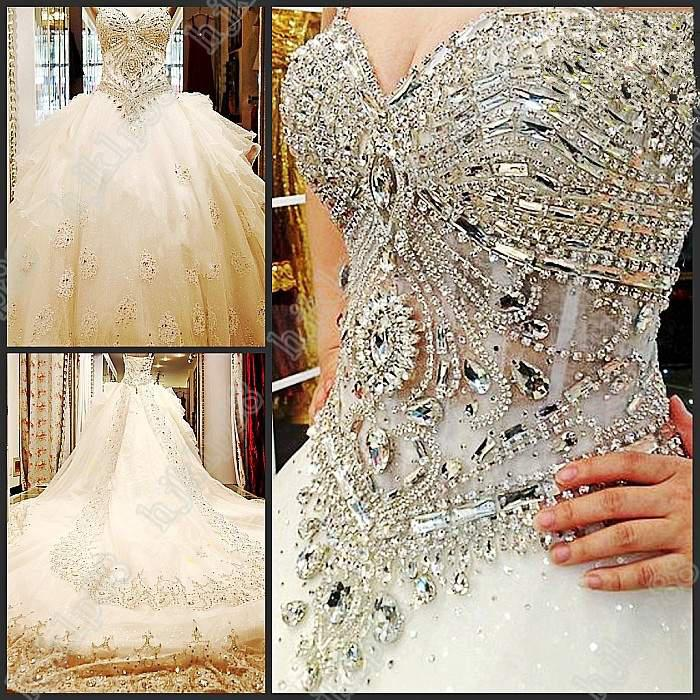 Luxury Beaded Crystal Organza Empire Sweetheart Strapless Wedding Dresses Dress Bridal Gown New Real Online With 31834 Piece On Hjklp88s Store