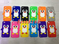 Wholesale Itouch5 Cases - 3D Penguin Soft silicone gel cartoon bird Case skin cover cases for apple ipod touch 6 6g 6th 5 5g 5th itouch5 Touch6