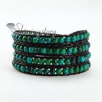 Wholesale Handcrafted Leather Bracelets - handcrafted beaded bracelets wrapped leather bracelet men leather bracelets