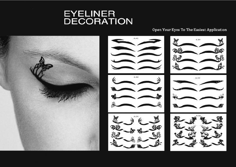 Fashion make up eyeliner tattoo black eyeliner shadow for Eye temporary tattoo makeup