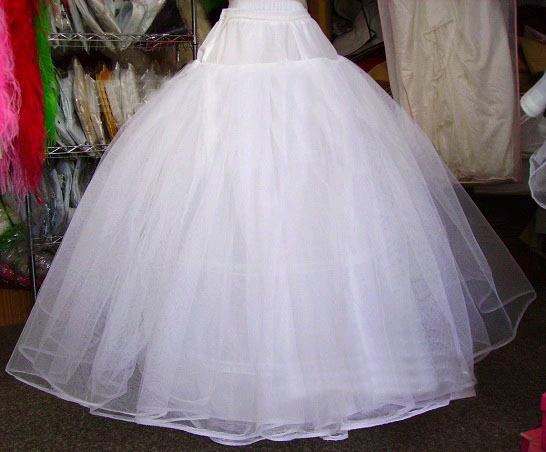 Ivory Ball Gown Wedding Dress: Four Tulle Net Ivory Ball Gown Petticoat For Wedding