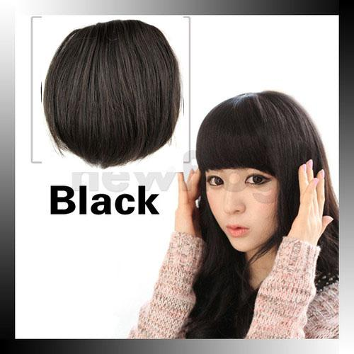 100 Human Hair Straight Fringe Bangs Clip In Extensions For Wavy Haircuts With From Swigs 954