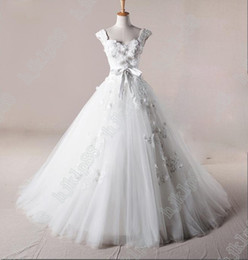 Wholesale Long Affordable Wedding Dresses - Most Sumptuous!Delicate Affordable prices Sexy Designer Cap Sleeves Wedding Dresses