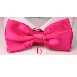 Wholesale Yellow Neckties For Men - bow ties for man neck tie knot satin men's necktie solid color bows 36 colors bowtie 200pcs lot