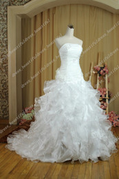 Wholesale Wedding Dresses Sale Organza - DHgate Hot Sale NEW Sexy Strapless Organza Bridal Dresses Gown Wedding Gowns Wedding Dresses Lace-Up