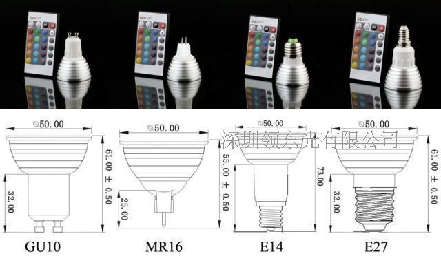 Partihandel Dimmable Memory LED glödlampa och fjärrkontroll med 16 olika färger RGB via FedEx
