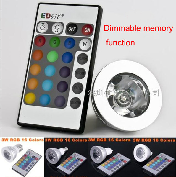 top popular high quality Dimmable memory LED Light Bulb And Remote Control With 16 Different Colors RGB 1pcs 2021