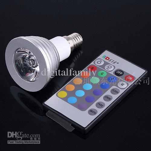 Großhandel Dimmable Gedächtnis-LED-Glühlampe und Fernbedienung mit 16 verschiedenen Farben RGB über FEDEX