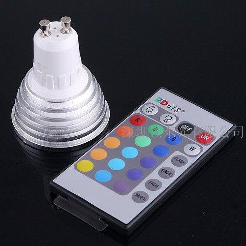 도매 디 밍이 가능한 메모리 LED 전구 및 FEDEX 통해 16 가지 색상 RGB와 원격 제어