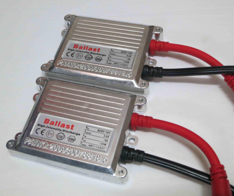 35W CA Silver Balasts Slim Hid Xenon Reemplazo Digital Slim Ballast Universal patentado 12V