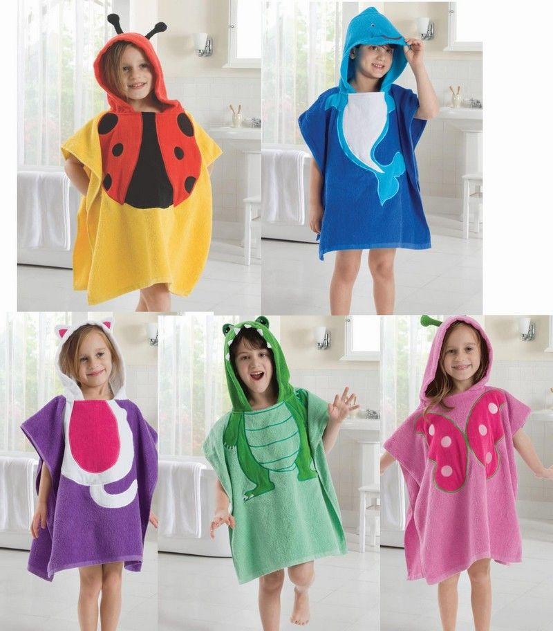 2019 Cute Baby Bathrobe Anmial Style Ladybug Kids Bathing Bath Robe  Swimming L W 120 60CM From Melee ed565908f