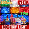 10m 100pcs bulbs colorful String Fairy Light XMAS Christmas Party Wedding LED Twinkle light Strips