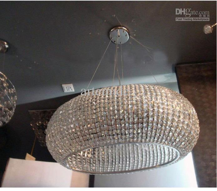 Contemporary Oval K9 Crystal Chandelier Modern K9 Crystal Pendant ...