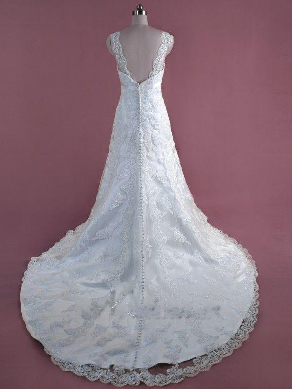 Коллекция сущность лучшие продажи-line свадебное платье кружева аппликация с поясом свадебное платье