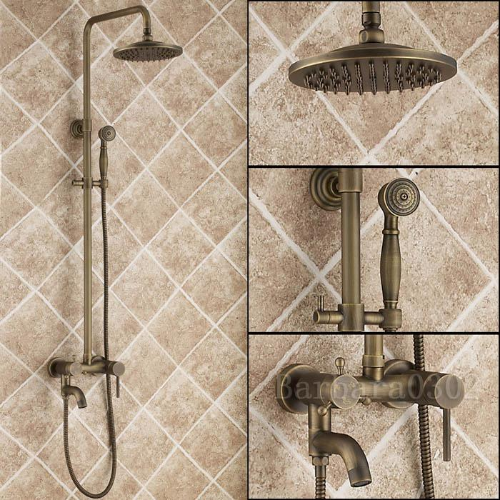 2018 Antique Shower Faucet Set Brass Bathroom Showers From ...