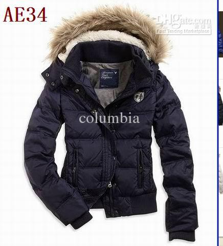 5dffd5186d846 2019 New Women S AE Dark Blue Down Coat Jacket Winter Parka Fur Hooded Down  Hoodies Outerwear A002 From Columbia