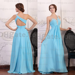 $enCountryForm.capitalKeyWord Canada - New Arrival 2019 Blue Chiffon One-shoulder Crystal Evening Prom Dresses Designer Occasion Dresses PD044