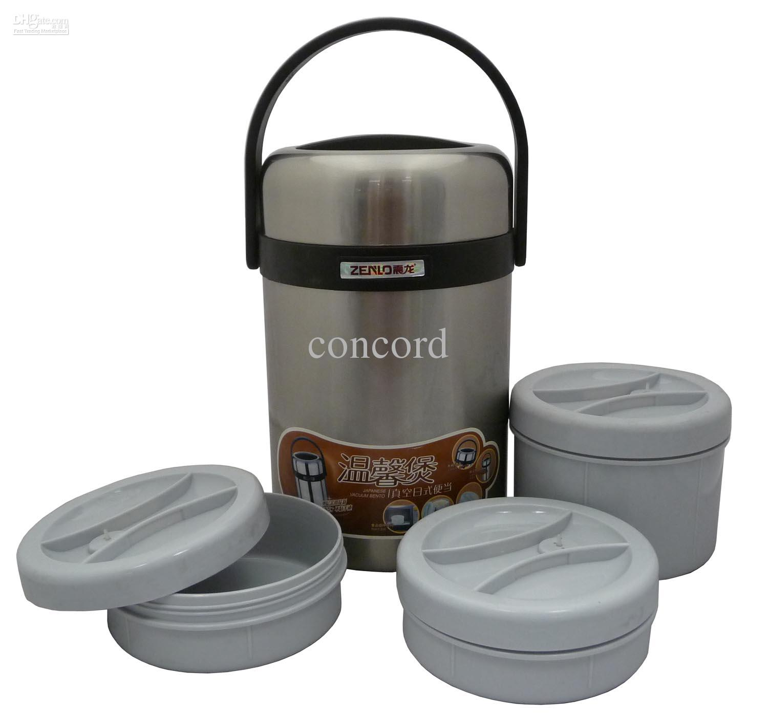 ZENLO 2 Li Jumbo Bento Stainless Steel Vacuum Lunch Jar Box Container XL  Sized Lunch Jar Online With $27.33/Set On Concordu0027s Store | DHgate.com