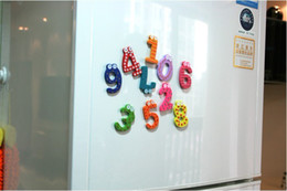 Wholesale Wooden magnetic stickers Numbers Design Kids Early Learning Wooden Fridge Magnet
