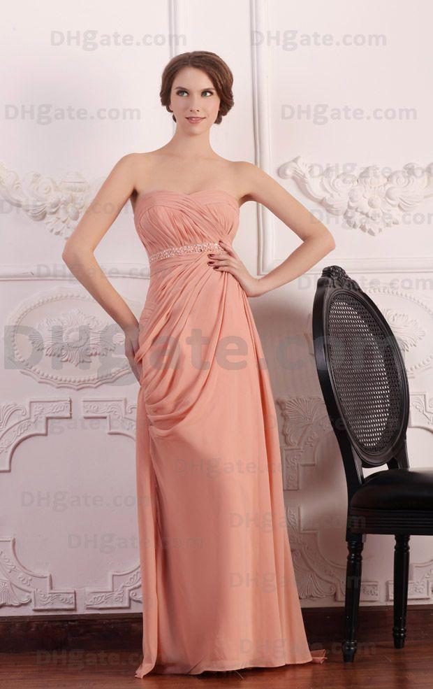 Sweetheart Bridesmaid Dresses 인디 핑크 A 라인 스윕 트레인 이브닝 드레스 실제 실제 이미지 파란색