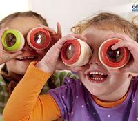 ingrosso giocattolo di occhio di api di legno-Giocattoli per bambini Regalo caleidoscopio Giocattoli Magic Bee Effetto occhio Effetto prisma Osservazione Caleidoscopio in legno