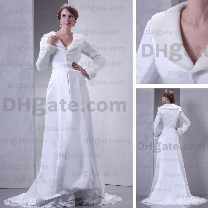Gorgeous Winter Bridal Cloak Jacket Wedding Coat Charmeuse Court ...