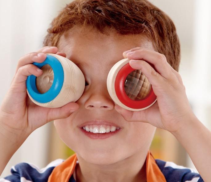 子供のおもちゃギフト万華鏡玩具マジックビーアイ効果プリズム観測木製万華鏡