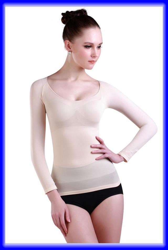 e11dcf2f453d7 New Women Autumn Long Sleeve Slimming Underwear Shirt Body Shaper ...