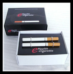 Wholesale E Health Cartridges - V9 502D Health double e-cigarette with 10 cartridges and USB Car AC chargers
