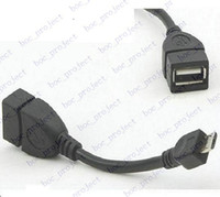 Wholesale Usb Host Cable B - New Micro USB B Male to USB 2.0 A Female OTG Data Host Cable-Black OTG Cable 500pcs lot
