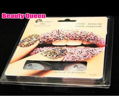 Caviar Nail Polish Manicure Set CIATE Limited Edition Micro Beads Paint 3D Rainbow Black White NEW