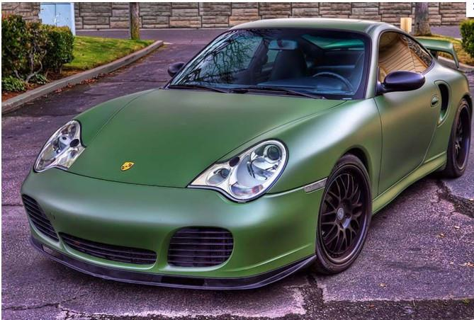 2018 Army Green Matte Car Wrap Leopard Air Bubble High Quality