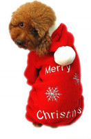 Wholesale Dog Apparel Fashion - Fashion Cute Pet Dog Apparel Winter clothes Coat Merry Christmas Clothing Cloth Coat Red Purple Gift