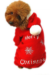 Wholesale Dog Red Costume - Fashion Cute Pet Dog Apparel Winter clothes Coat Merry Christmas Clothing Cloth Coat Red Purple Gift