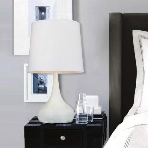 2018 Modern Simplicity White Fabric Table Lamp Bedside Lamp .
