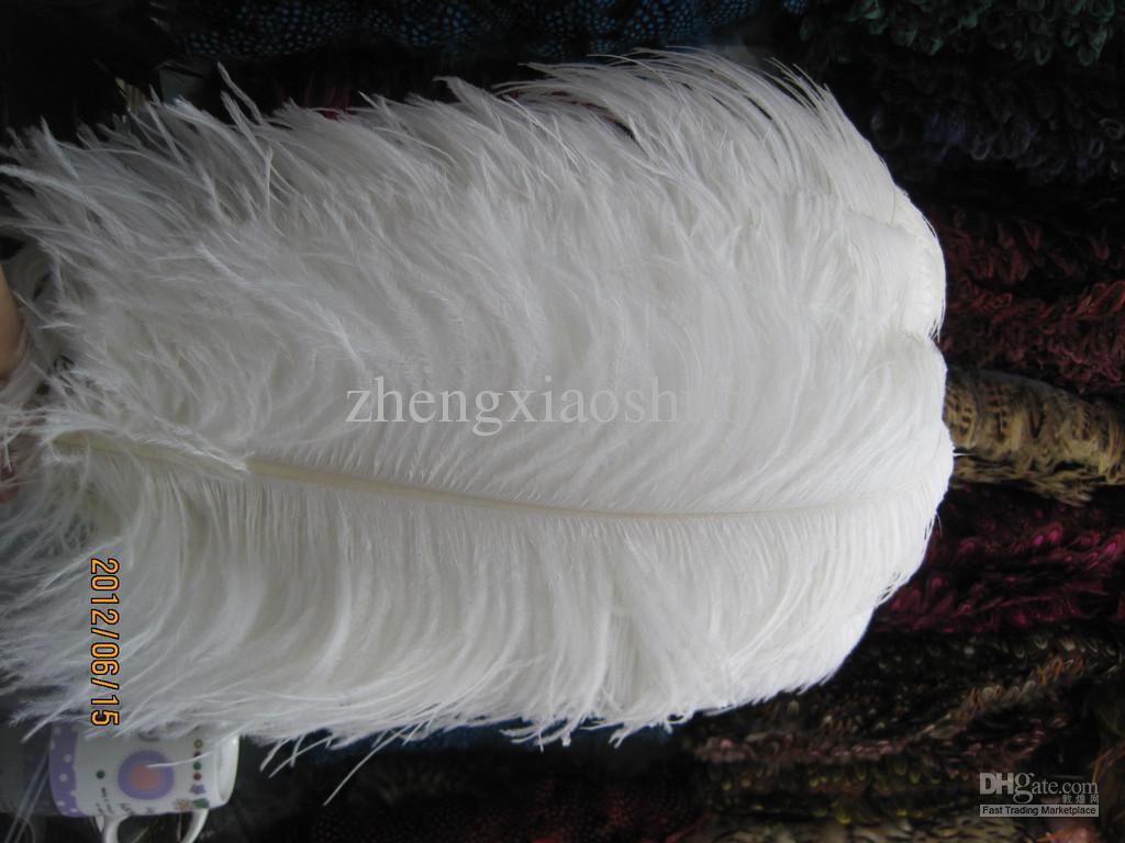 회장 22-24inch 24-26inch 26-28inch 순수 흰색 타조 깃털 웨딩 중심 장식 파티 용품 장식