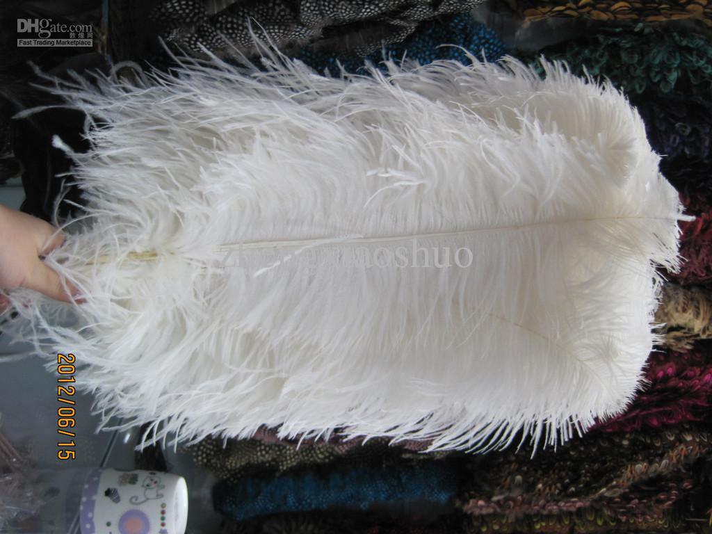 Prefeito 22-24 polegada 24-26 polegada 26-28 polegada plumas de Penas de Avestruz branco Central de casamento Decoração fontes do partido decor