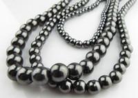 colar de talão de tungstênio venda por atacado-DIY pulseira anel de colar 200 PCS * hematita pedra de aço de tungstênio Tiedan contas de pedra 6 MM 8 MM 10 MM 12 MM