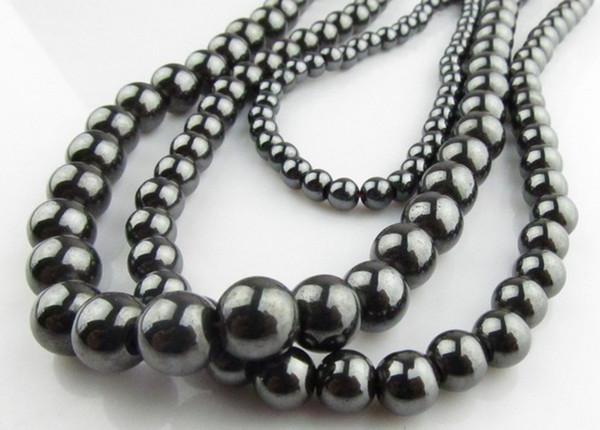 Braccialetto fai da te anello collana 200PCS * Ematite tungsteno pietra d'acciaio Tiedan pietra perline 6MM 8 MM 10 MM 12 M