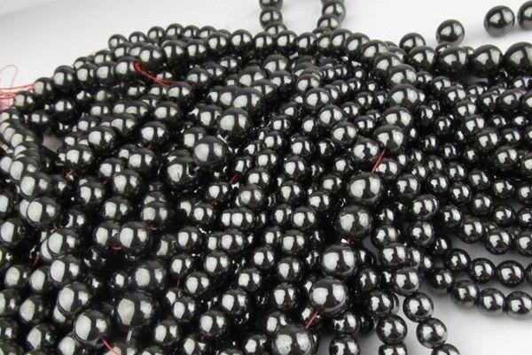 DIY pulseira colar 300 PCS * hematita pedra de aço de tungstênio contas de pedra Tiedan 6 MM 8 MM 10 MM 12 MM