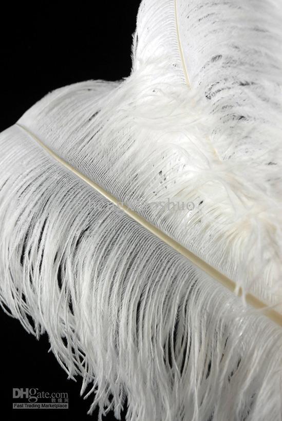 Ücretsiz kargo 30 adet 24-26 inç için saf Beyaz Devekuşu Tüy Erikler Düğün centerpiece Dekorasyon tüy merkezinde ev Dekor
