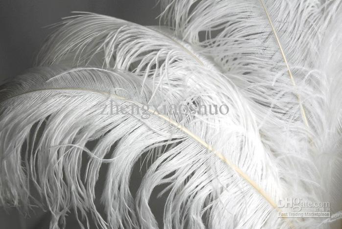 Бесплатная доставка 30 шт. 24-26 дюймов чистый белый страусиное перо плюмы для свадьбы центральным украшения перо центральным домашнего декора