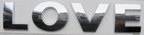 / / Set 3D Letters Digitale / Nummer Chrome Auto Emblemen Badge Decals Stickers voor Auto
