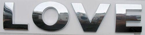 /ロット200ピー/セット3D文字デジタル/ナンバークロムカーエンブレムバッジデカールステッカー