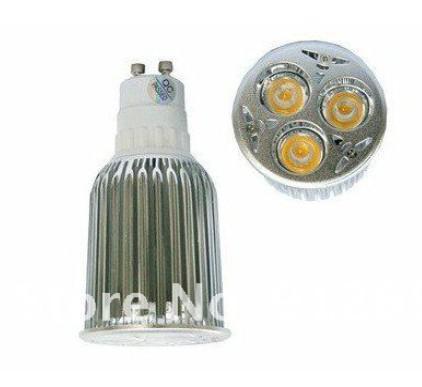 / de alta potencia GU10 3X6W 18W LEDS Spotlight 85V-265V Lámpara de iluminación Led Bombillas Led