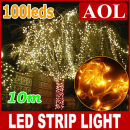 $enCountryForm.capitalKeyWord Canada - 5 pcs lot HOT 10M 100 LED 110,220V LED String Decoration Light White Blue Red Green Yellow multi-color For Wedding Christmas Party